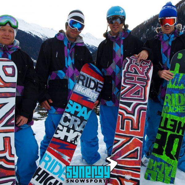 Synergy snowsports 2011 team photo Ride snowboards, Chris Skinner