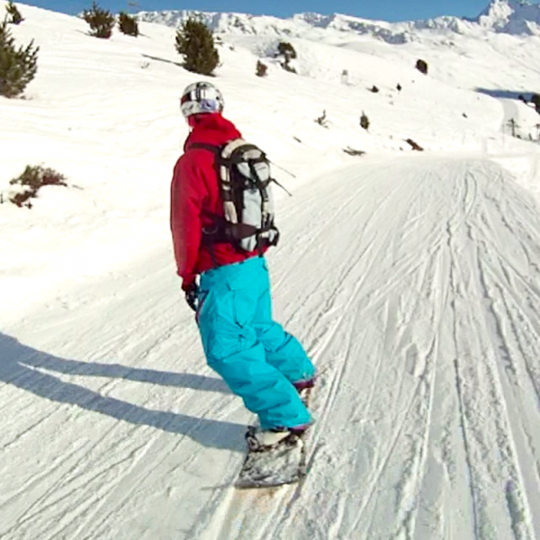 how to ride a cat-track on a snowboard shot1 toe edge