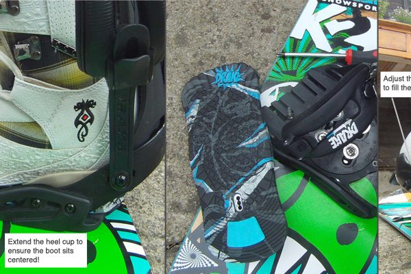 toe ramp and heel cup snowboard binding adjustments